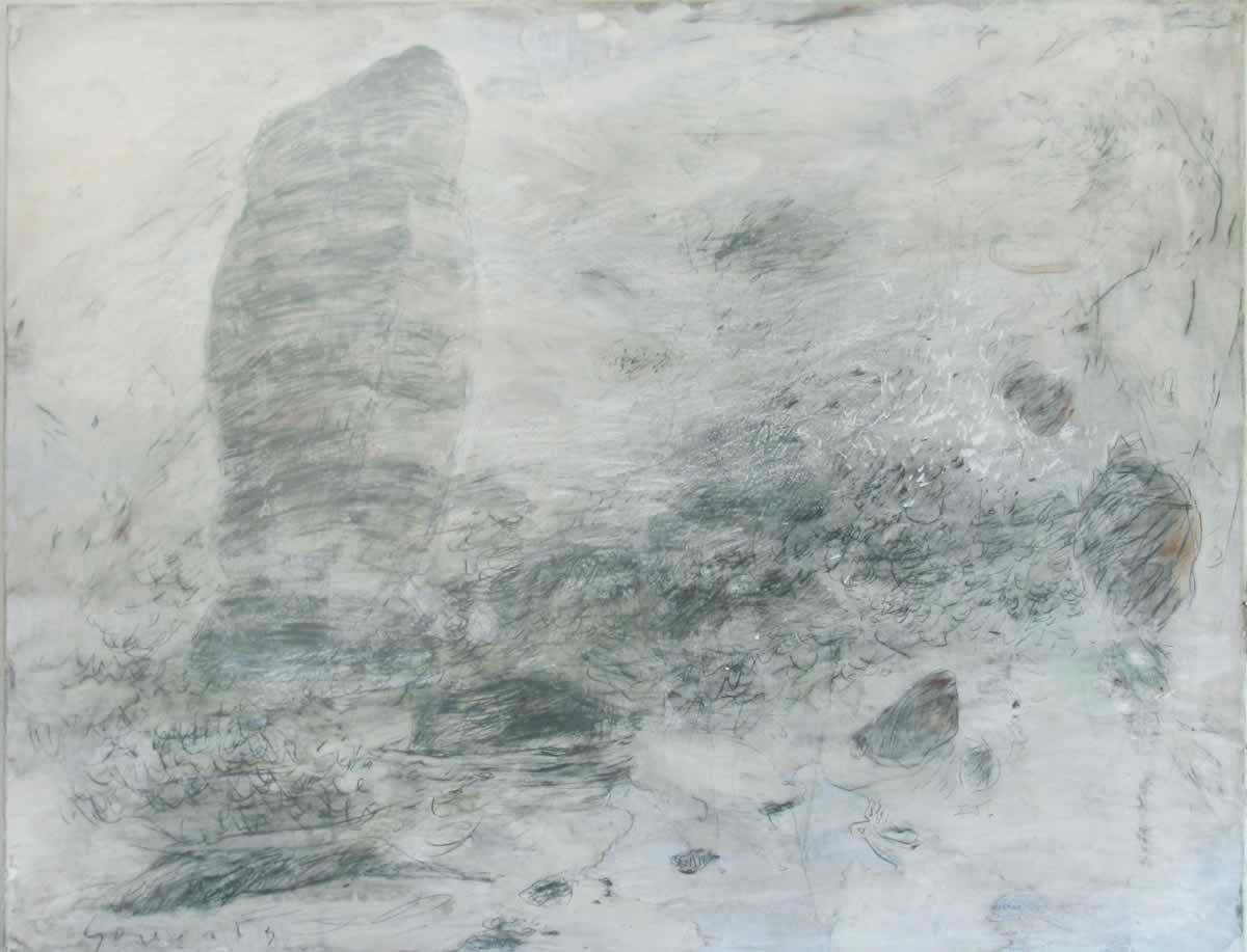 Aiguille | 130x100cm | paper on canvas | 2003
