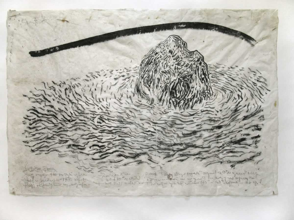 AIsland | 67x50cm | japenese ink nepalese paper | 2003