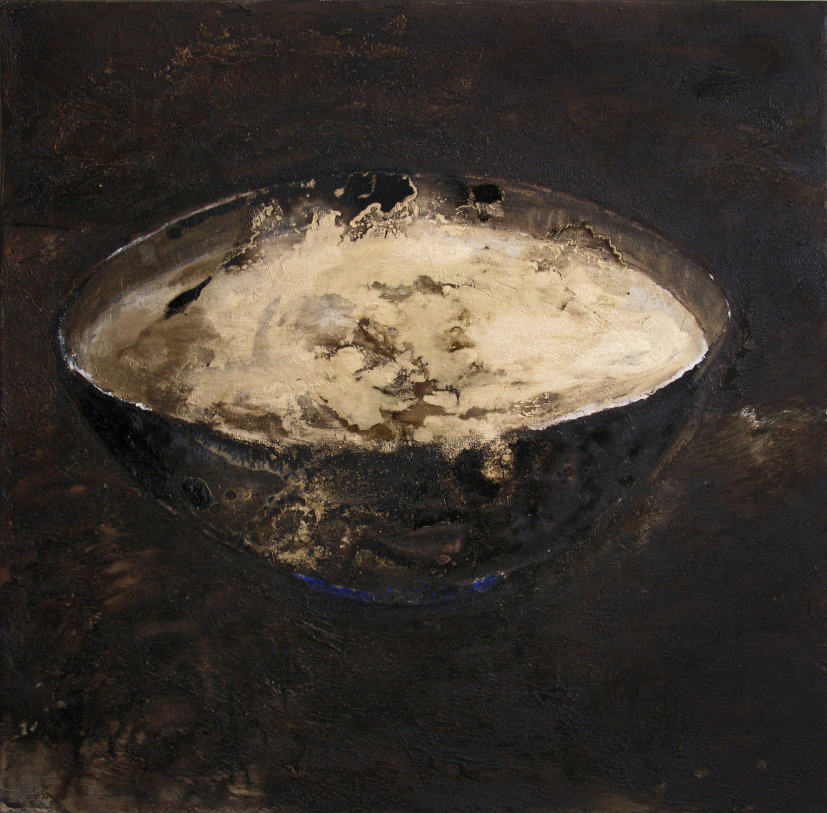 Alchemy | 95x95cm | tar, pigments on canvas| 2012