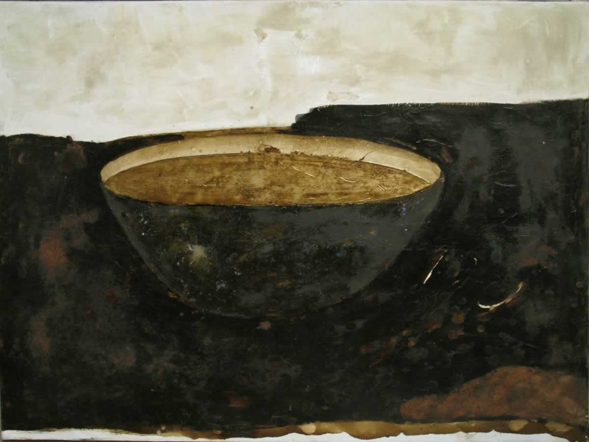 Crock of gold | 140x100cm | tar, beauxite on canvas | 1992
